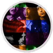 Led Zeppelin Round Beach Towel by Marvin Blaine