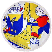 Lichtenstein's Look Mickey Round Beach Towel