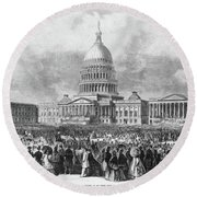 Lincoln Inauguration, 1865 Round Beach Towel