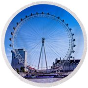 London Eye Round Beach Towel