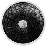 Looking Up Siena Cathedral 2 Round Beach Towel
