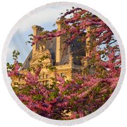 Louvre Blossoms Round Beach Towel