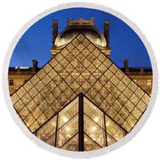 Louvre Pyramid Round Beach Towel