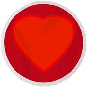 Love Heart Round Beach Towel