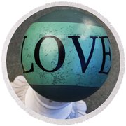 Love Letters Round Beach Towel