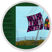 Love Of A Quilt Round Beach Towel