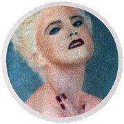 Madonna The Early Years Round Beach Towel