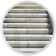 Marble Lines Round Beach Towel