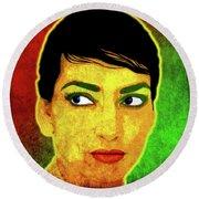 Maria Callas Round Beach Towel
