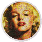 Marilyn Monroe - 100 Dollars Round Beach Towel