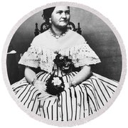 Mary Todd Lincoln (1818-1882) Round Beach Towel