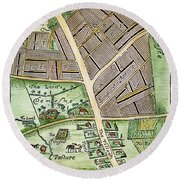 Medieval English Manor Round Beach Towel