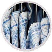 Men's Shirts Round Beach Towel by Tom Gowanlock