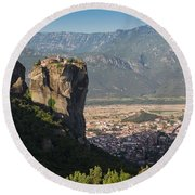 Meteora, Thessaly, Greece. The Eastern Round Beach Towel