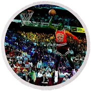 Michael Jordon Round Beach Towel