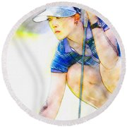 Michelle Wie - Third Round Of The Lpga Lotte Championship Round Beach Towel