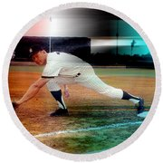 Mickey Mantle Round Beach Towel