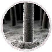 Microscopic Skin Round Beach Towel