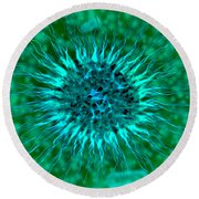 Microscopic View Of Dendrimers Round Beach Towel