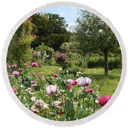 Monets Garden - Giverney - France Round Beach Towel