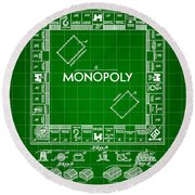 Monopoly Patent 1935 - Green Round Beach Towel