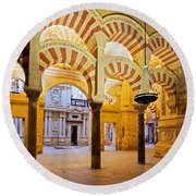 Mosque-cathedral In Cordoba Round Beach Towel