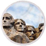 Mount Rushmore Monument Round Beach Towel