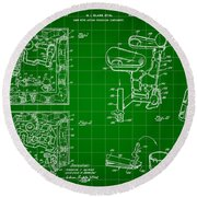 Mouse Trap Board Game Patent 1962 - Green Round Beach Towel