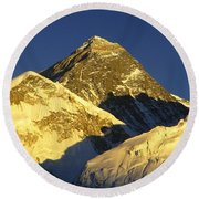 Mt Everest Round Beach Towel
