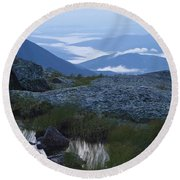 Mt. Washington Blue Hour Round Beach Towel