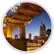 Nashville Tennessee Round Beach Towel by Brian Jannsen