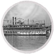 New Orleans Steamboat Round Beach Towel