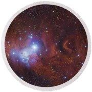 Ngc 2264, The Cone Nebula Region Round Beach Towel