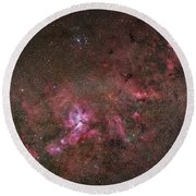 Ngc 3372, The Eta Carinae Nebula Round Beach Towel by Robert Gendler
