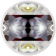 Nonstop Apple Blossom Abstract Round Beach Towel