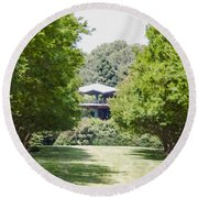Norfolk Botanical Garden 1 Round Beach Towel
