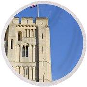 Norwich Castle Round Beach Towel by Tom Gowanlock