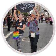 Nyc Gay Pride 2011 Round Beach Towel