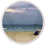 Ocean View 1 - Miami Beach - Florida Round Beach Towel