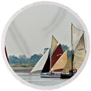 Old Gaffers Panorama Round Beach Towel