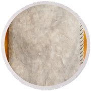 Old Paper Texture Round Beach Towel