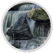 Old Stone Fort Round Beach Towel