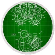 Optical Refractor Patent 1985 - Green Round Beach Towel