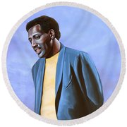 Otis Redding Painting Round Beach Towel