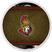 Ottawa Senators Round Beach Towel