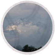 Out Of The Clouds Round Beach Towel