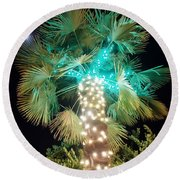 Outdoor Christmas Decorations Round Beach Towel