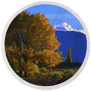 Owens Valley Fall Colors  Round Beach Towel