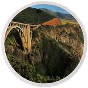 Pacific Coast Highway Round Beach Towel by Benjamin Yeager