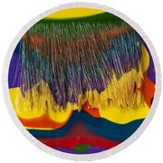 Paint Brushes Camouflaged Round Beach Towel